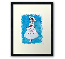 Miss Poppins Framed Print
