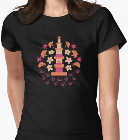 Zen Garden Womens Fitted T-Shirt