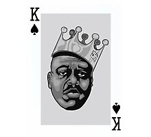 King Of Spades Biggie Photographic Print