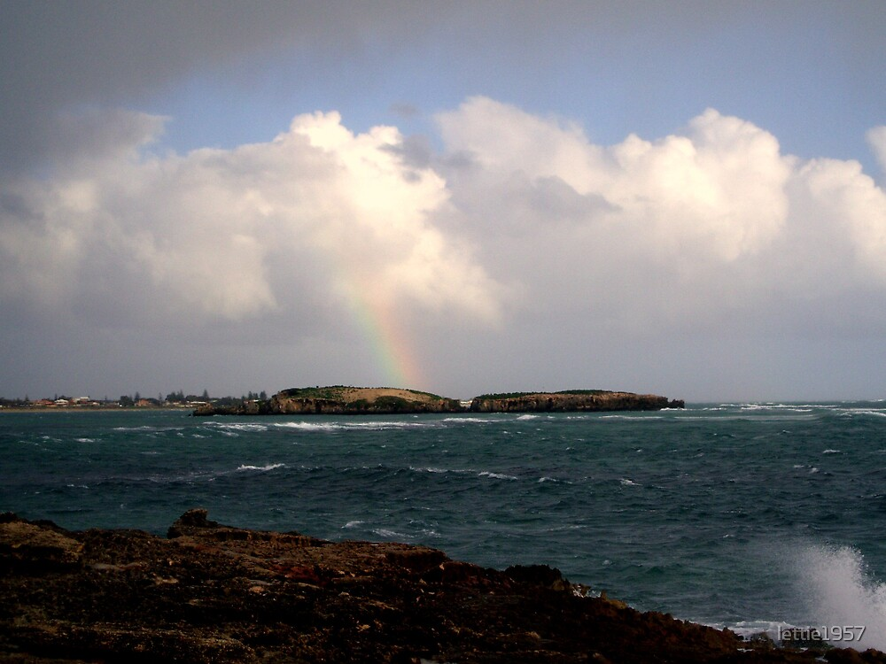 Rainbow in the Clouded Sky  by lettie1957
