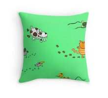 Animals and their tracks. Throw Pillow