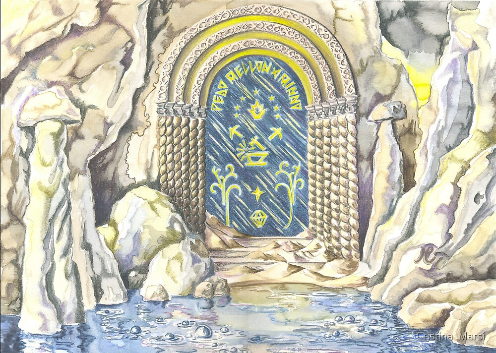 Entrance to Moria by Cristina  Marsi