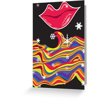 Cold Lips Greeting Card