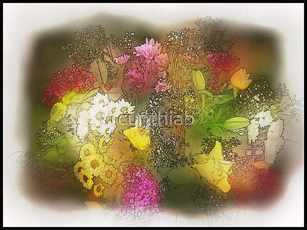 arragement of flowers by cynthiab