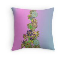 Gilded Floral design Throw Pillow