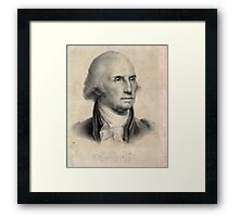 Portrait of George Washington Framed Print
