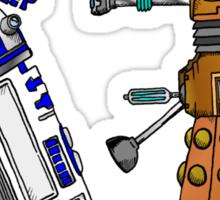 R2D2 meets a Dalek Sticker