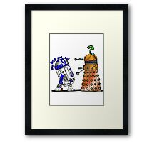 R2D2 meets a Dalek Framed Print