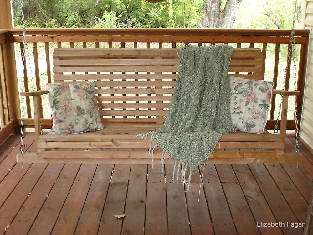 A Fall Swing on a Front Porch by Elizabeth Fagan