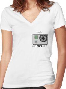 GOPRO - I do cool stuff Women's Fitted V-Neck T-Shirt