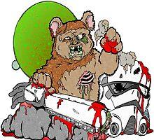 Zombie Ewok by Skree
