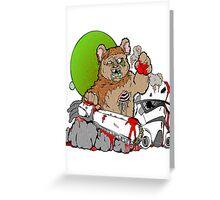 Zombie Ewok Greeting Card