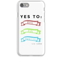 Love, Life, and Staying In More iPhone Case/Skin