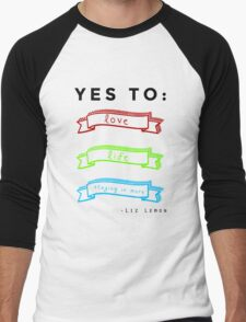 Love, Life, and Staying In More Men's Baseball ¾ T-Shirt