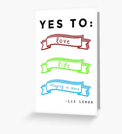 Love, Life, and Staying In More Greeting Card