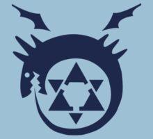 Fullmetal Alchemist O(u)roboros Homunculus Logo Blue T-Shirt