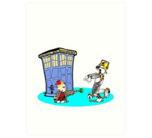 Calvin and Hobbes Doctor Who Art Print