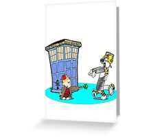 Calvin and Hobbes Doctor Who Greeting Card