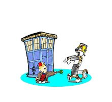 Calvin and Hobbes Doctor Who Photographic Print