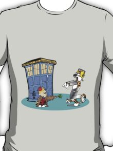 Calvin and Hobbes Doctor Who T-Shirt