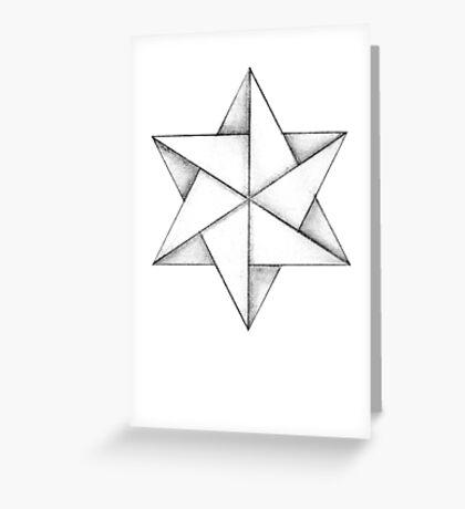 Paper Star Greeting Card