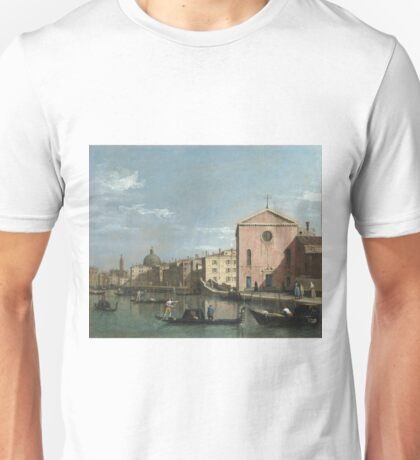 Canaletto - Venice - The Grand Canal Facing Santa Croce Unisex T-Shirt