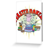 Master Baker Greeting Card