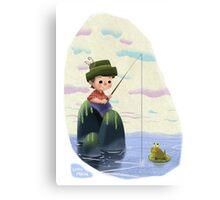 Fisherboy Canvas Print