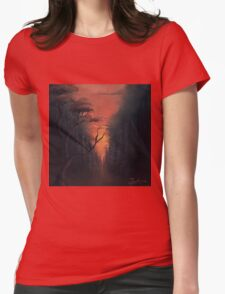 Thru the Forest Womens Fitted T-Shirt