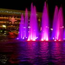 Holiday fountains in pink by Celeste Mookherjee