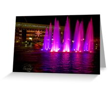Holiday fountains in pink Greeting Card