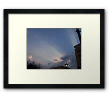 heavens rays Framed Print