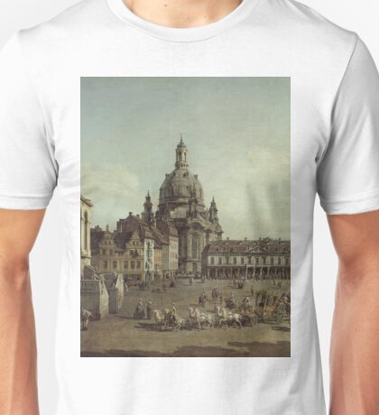 Canaletto - View Of The Neumarkt In Dresden From The Judenhofe 1749 Unisex T-Shirt