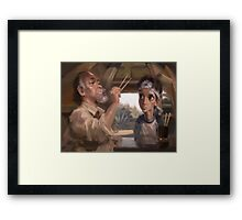 Karate Kid - Man who catch fly with chopstick accomplish anything Framed Print