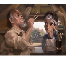 Karate Kid - Man who catch fly with chopstick accomplish anything Photographic Print