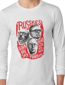 Ruskies-Russian Composerss Long Sleeve T-Shirt