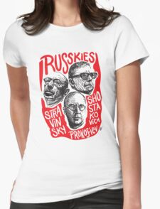 Ruskies-Russian Composerss Womens Fitted T-Shirt
