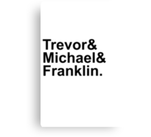 Grand Theft Auto V Helvetica List Canvas Print
