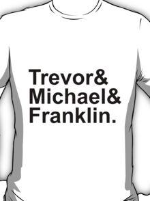 Grand Theft Auto V Helvetica List T-Shirt