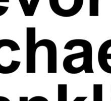 Grand Theft Auto V Helvetica List Sticker