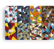 Game logo polygonal Canvas Print