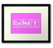 Candy - Periodic Table Framed Print