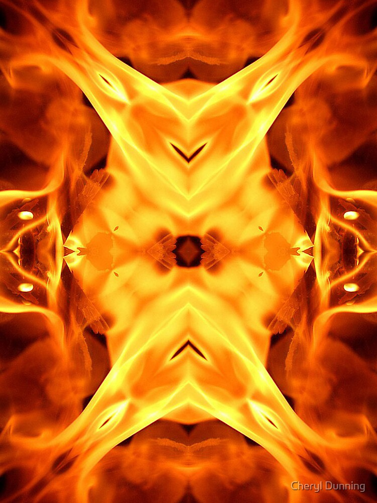 flaming design by Cheryl Dunning