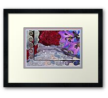 Glistening Floral Array Framed Print