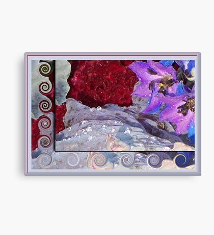 Glistening Floral Array Canvas Print