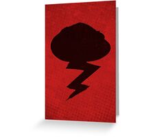 Misfits-Style Halftone Grunge Storm Icon Greeting Card