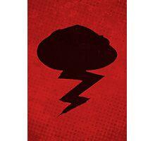 Misfits-Style Halftone Grunge Storm Icon Photographic Print