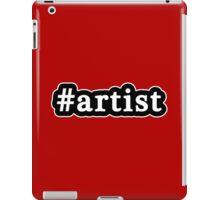 Artist - Hashtag - Black & White iPad Case/Skin