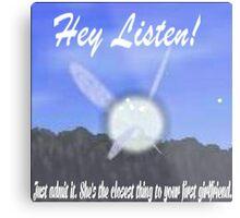 Hey Listen! Metal Print