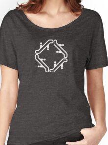 Escher Escalator Architecture T-Shirt White Women's Relaxed Fit T-Shirt